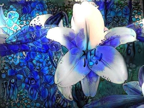 Blue Lily by eReSaW