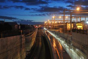 Time Exposure Epping Overpass. by MrJuzz1992