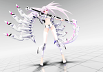MMDNC - TDA White Rock Shooter by kinoko-hiou