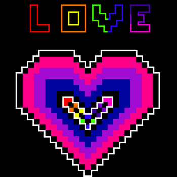 Bisexual Heart With Rainbow Love by Fanfic-slaybitch0123