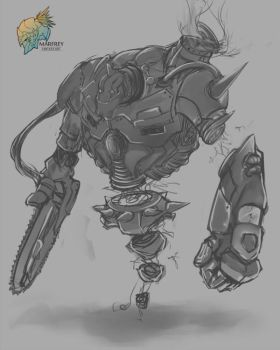 Steampunk Golem by Marfrey