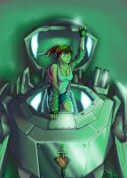 A girl and her mecha by ET-JR