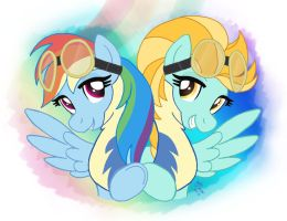 MLP FIM - Rainbow Dash And Lightning Dust by Joakaha