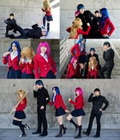 Toradora Group Shots by RuffleButtCosplay