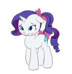 COLLAB - Cute Ponytail Rarity by Pia-sama