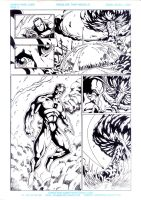 Red vs Green vs Lobo pg3 Inks by DaveLungArt