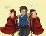 comm- korra ikki and jinora by chubbystuck-lover