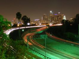 Los Angeles at night by TrashyDiamond