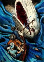 Moby Dick - Duel with the beast by elicenia