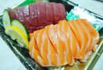 Tuna and Salmon Sashimi by nosugarjustanger