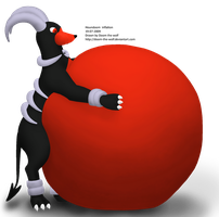 Houndoom inflation by Doom-the-wolf