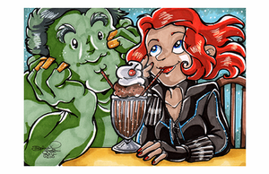 Convention Print - The Hulk and Black Widow by DaphneLage