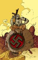 Atomic Robo Pin-up by 2depaus