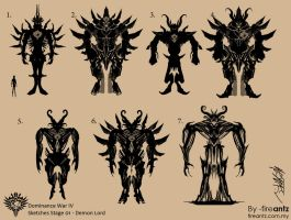 DWIV-sketches01-Demon Lord by fireantz83