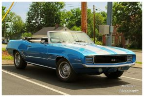 A Cool Blue 1969 Camaro SS Convertible by TheMan268