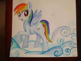 FOR SALE -Rainbow Dash Water colour by bunnimation