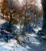 Snow Forest by Lyno3ghe