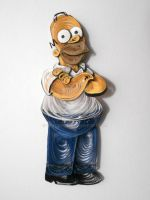Paper quilling - Homer Simpson by wholedwarf