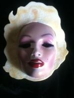 Marilyn Monroe - Hand Painted Mask - Beautiful - N by PiratesQuarters