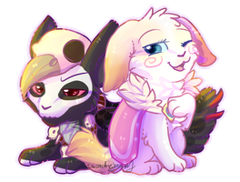 Witchy and Zelda Chibis by CascadingSerenity