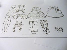 Cute Lolita Paper Doll (#1) by visu-doll