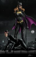 Batgirl and The Cat by Art-Of-Nathan-Wright