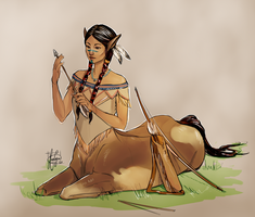 native centaur by KuroCyou