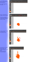 Simple Fire Tutorial - PSE 6 by the-blue-fish