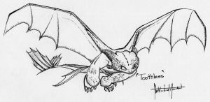 Toothless in Ink by CMA3D