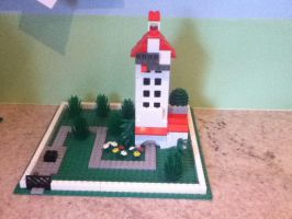 The Hollywood Tower Hotel Lego Mini model by ChrisatsinnohDA