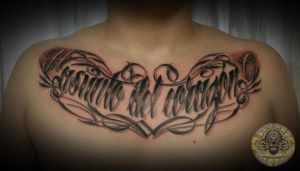 chicano lettering asunto.... by 2Face-Tattoo