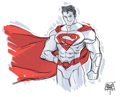 New 52 Superman doodle by RyanJampole