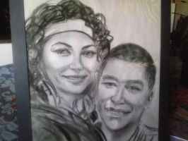 An art portrait of my babe and me by iamMyla
