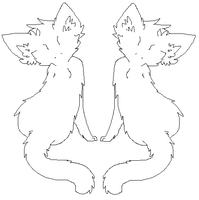 Free To Use Cat Couple LineArt by wqlf