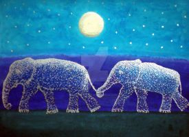Mid Night Blue Elephants by limegreenguitar