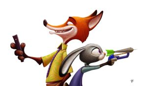 Zootopia - Fox and bunny by nik159