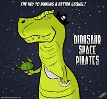 MP - Dinos in Space by EnciferART