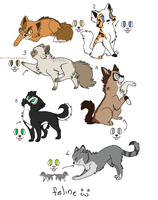 Natural Cat Adoptables CLOSED by SillyPickles