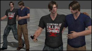 Leon-Killing Zombies (My first official Meshmod!) by bakasolo