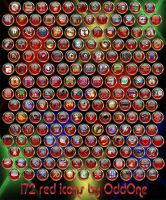 172 Red icons by 0dd0ne