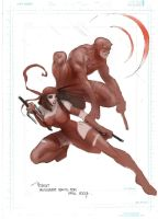 Daredevil and elektra by moritat