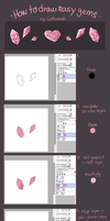 Sparkly Gem Tutorial by Cottoneeh
