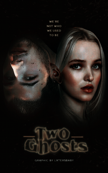 |Two Ghosts| Wattpad Cover by maximoffwife