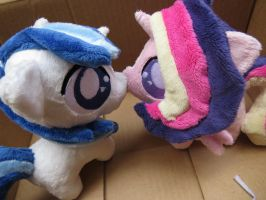 Princess Cadence and Shinning Armor Chibi Plushies by buttsnstuff