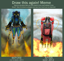 Before And After Meme: E.P. by Py-Bun