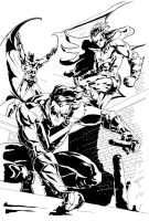 Batman, Robin and NightWing by PhillieCheesie