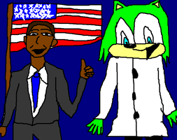 presedent obama an dr harris by Sonicsbabe123