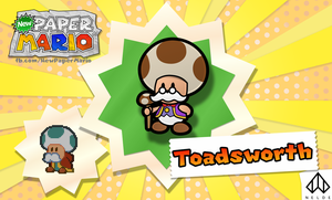 New Paper Mario: Toadsworth by Nelde