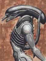 H.R. Giger's Alien: Brown by avix