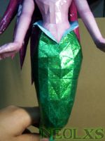 Ariel Mermaid Papercraft 7 by Neolxs